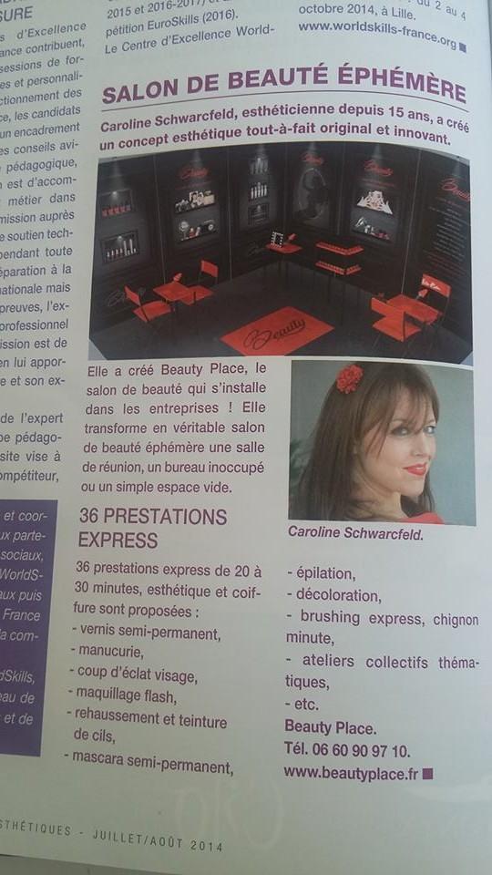 Les Nouvelles Esthétiques Aout 2014  Article