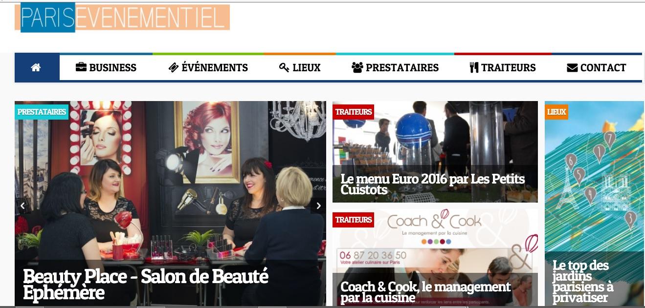 Beauty Place dans la presse événementielle
